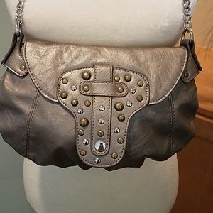*Candie's Pewter / Silver Crossbody Bag